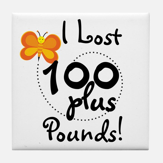 I Lost 100 Plus Pounds Tile Coaster