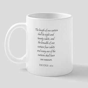 EXODUS  26:2 Mug