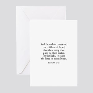 EXODUS  27:20 Greeting Cards (Pk of 10)