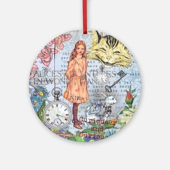 Cute Alice Round Ornament