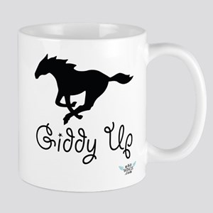 Giddy Up Black Horse Image Mug