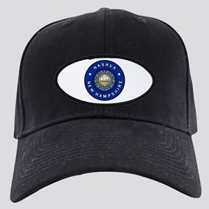 Nashua New Hampshire Black Cap with Patch