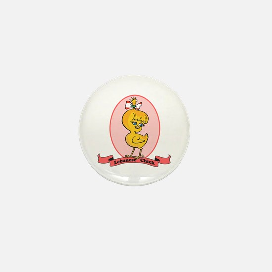 Lebanese Chick Mini Button