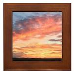 Prairie Sunset Framed Tile