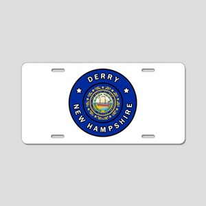 Derry New Hampshire Aluminum License Plate