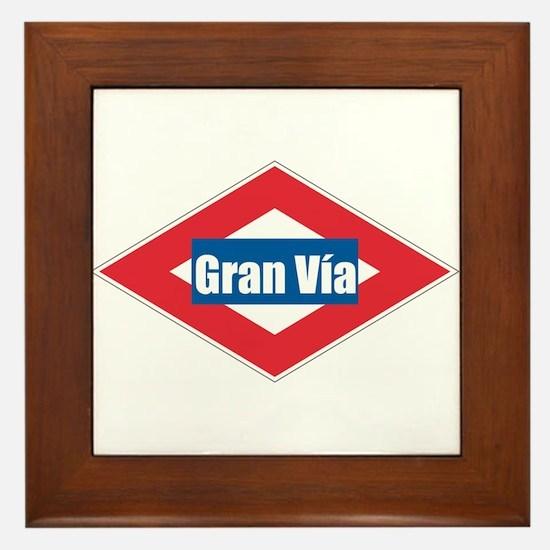Gran Via Framed Tile