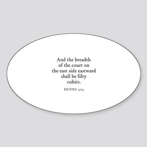 EXODUS 27:13 Oval Sticker