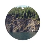 Waterton Cliffside Round Ornament