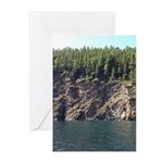 Waterton Cliffside Greeting Cards