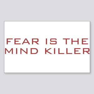 Fear Is The Mind Killer Rectangle Sticker