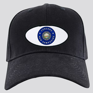 Concord New Hampshire Black Cap with Patch