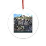 Waterton Cliffs Round Ornament