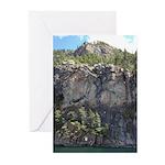 Waterton Cliffs Greeting Cards