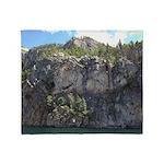 Waterton Cliffs Throw Blanket