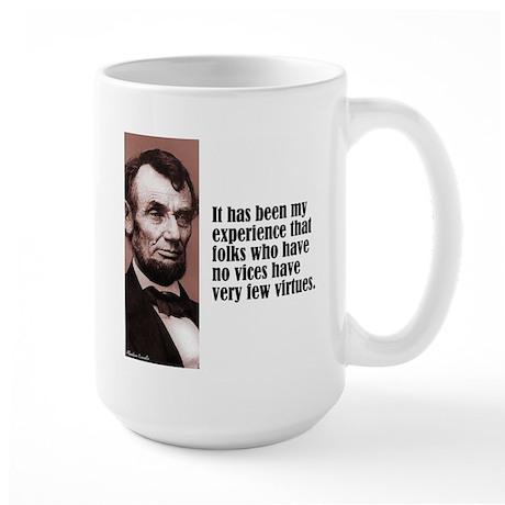 "Lincoln ""Vices & Virtues"" Large Mug"