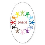Peace Bebes Oval Sticker