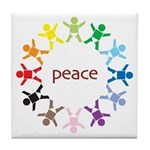 Peace Bebes Tile Coaster