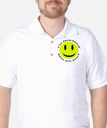 """Face Blind"" Golf Shirt"