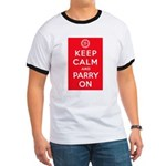 """""""Keep Calm and Parry On"""" Ringer T"""