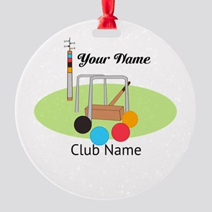 Croquet Club Player Team Ornament