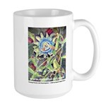 Large Mug - Flamingo Passion flower w hummingbird