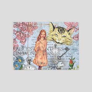 Alice in Wonderland Rackham Cheshir 5'x7'Area Rug
