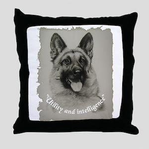 Schutzhund Throw Pillow