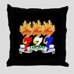 Lucky Sevens Throw Pillow