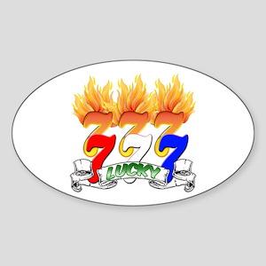 Lucky Sevens Sticker (Oval)