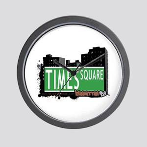 TIMES SQUARE, MANHATTAN, NYC Wall Clock