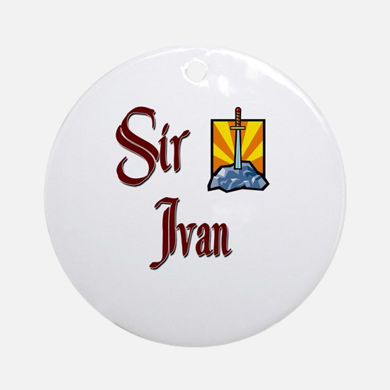 Sir Ivan Ornament (Round)