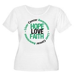 LiverCancer HopeLoveFaith T-Shirt