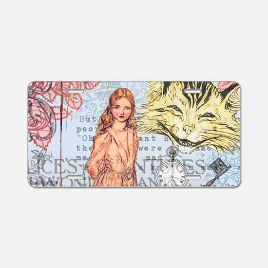 Alice in Wonderland Rackham Aluminum License Plate