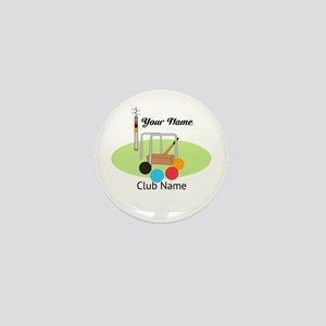 Croquet Club Player Team Mini Button