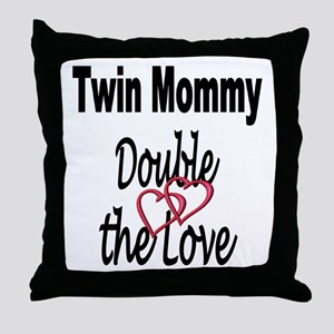 Double the Love Throw Pillow