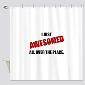 Awesomed All Over The Place Shower Curtain