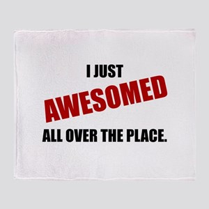 Awesomed All Over The Place Throw Blanket
