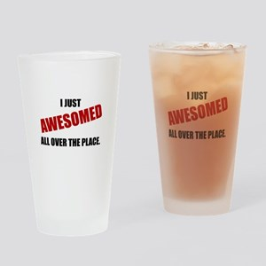 Awesomed All Over The Place Drinking Glass