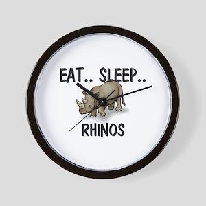 Eat ... Sleep ... RHINOS Wall Clock