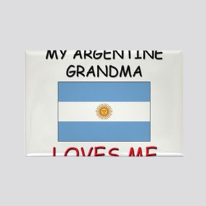 My Argentine Grandma Loves Me Rectangle Magnet