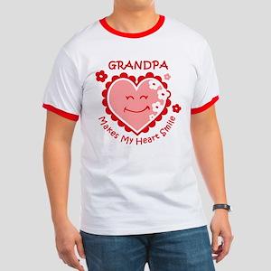 Heart Smile Grandpa Ringer T