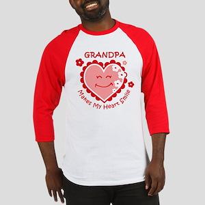 Heart Smile Grandpa Baseball Jersey