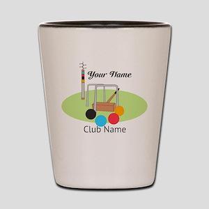 Croquet Club Player Team Shot Glass