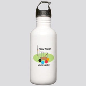Croquet Club Player Team Water Bottle
