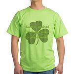 Lucky is Opportunuty Green T-Shirt