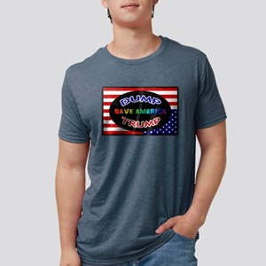 DUMP TRUMP - SAVE AMERICA Mens Tri-blend T-Shirt