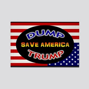DUMP TRUMP - SAVE AMERICA Rectangle Magnet