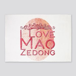 I Love Mao Zedong 5'x7'Area Rug