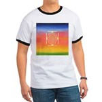 374.rainbow mandala Ringer T