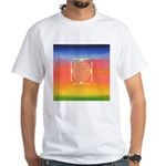 374.rainbow mandala White T-Shirt